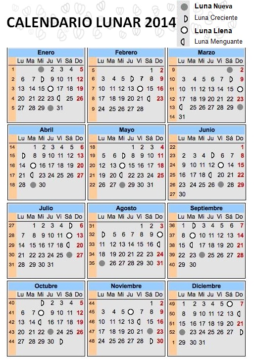 2016 Calendario Chino quot further Calendario Astrologico Lunar 2016 ...