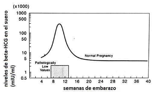 valores de prueba de embarazo cuantitativa